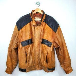 Levi's Authentic Westernwear VTG Leather Bomber XL